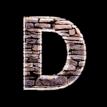 computergraphics: Stone wall 3d letter d
