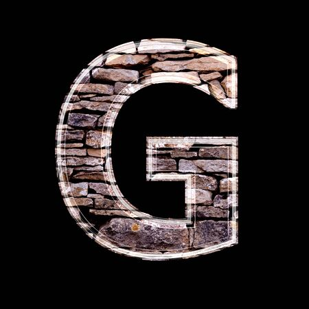 computergraphics: Stone wall 3d letter g