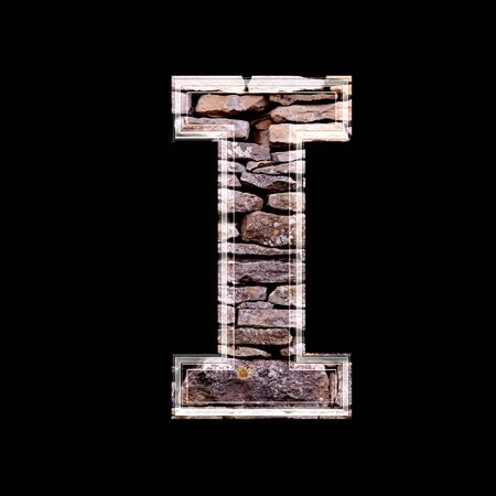 computergraphics: Stone wall 3d letter i