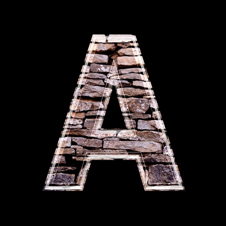 Stone wall 3d letter A Stock Photo - 13272827