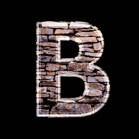 Stone wall 3d letter b Stock Photo - 13272858