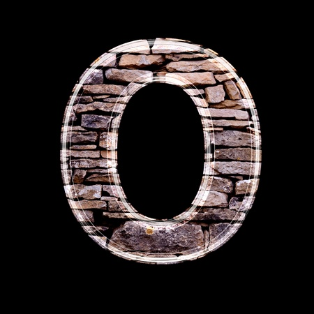 stone work: Stone wall 3d letter o