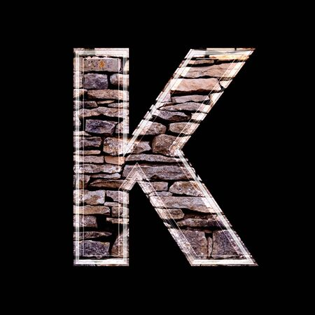 stone work: Stone wall 3d letter k