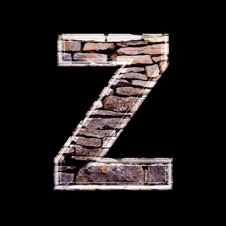 stone work: Stone wall 3d letter z