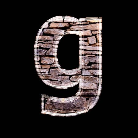 stone work: Stone wall 3d letter A g Stock Photo