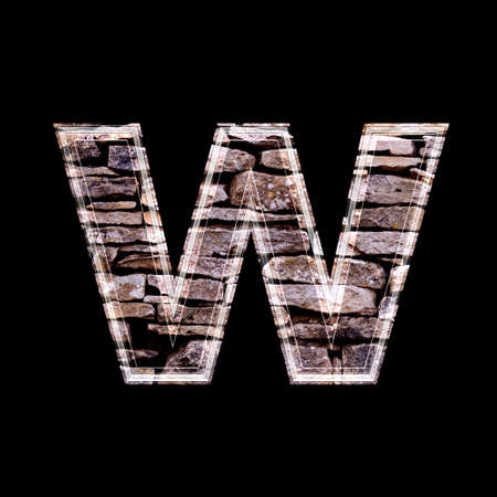 computergraphics: Stone wall 3d letter w