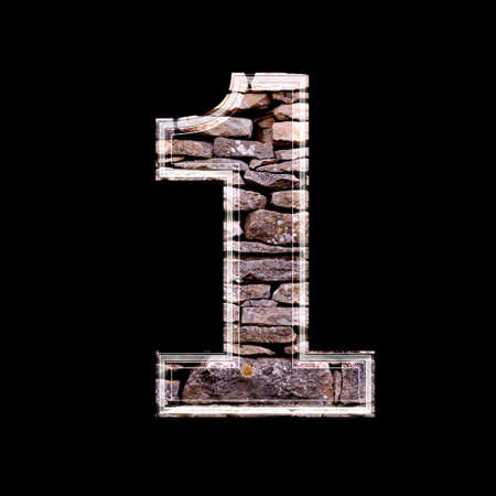 computergraphics: Stone 3d digit 1