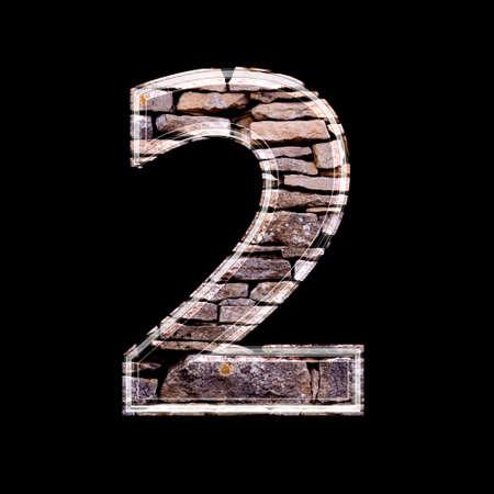 computergraphics: Stone 3d digit 2