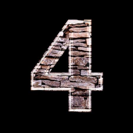 computergraphics: Stone 3d digit 4