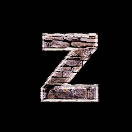 computergraphics: Stone wall 3d letter z