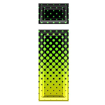 i net: Halftone 3d lower-case letter i