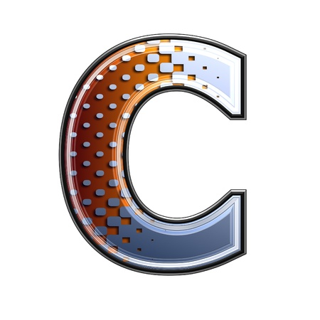 3d letter with abstract texture - c photo
