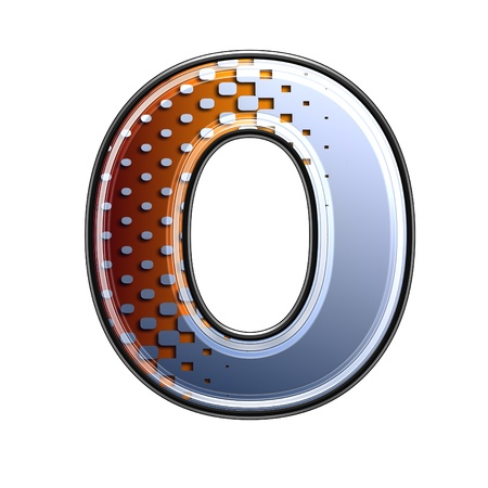3d letter with abstract texture - o photo