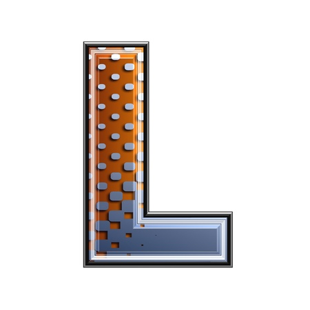 3d letter with abstract texture - l photo