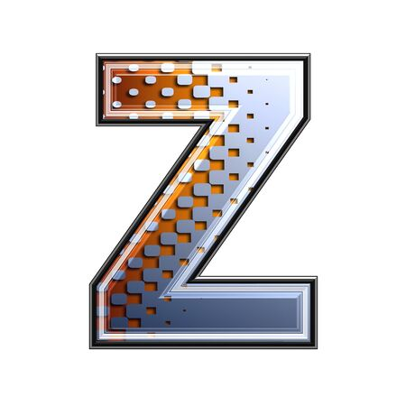 3d letter with abstract texture - z photo