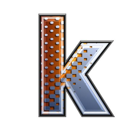 3d letter with abstract texture - k photo