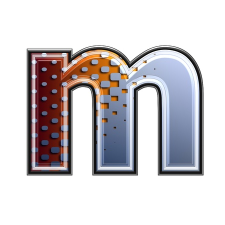 3d letter with abstract texture - m photo