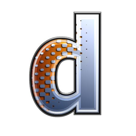 3d letter with abstract texture - d photo