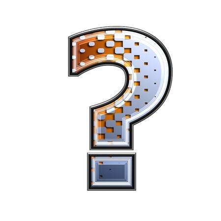 point d interrogation: Point de demi-teintes d'interrogation 3d Banque d'images