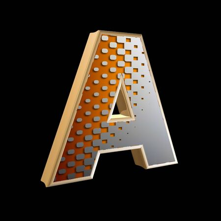 3d abstract letter with modern halftone pattern Stock Photo - 15212877