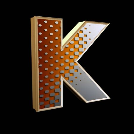 3d abstract letter with modern halftone pattern - K Stock Photo - 15212902