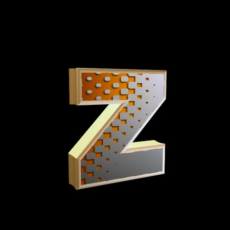 abstract 3d letter with halftone texture - z photo