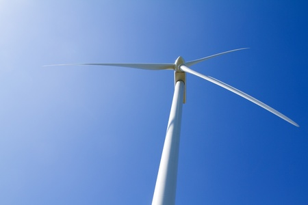 A wind turbine under clear blue sky Stock Photo - 18721968