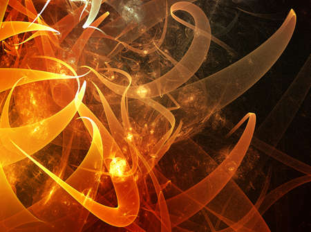 Abstract and futuristic fractal background with orange shapes Stock Photo - 18722394