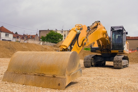 buckloader doing landscaping for new home Stock Photo - 18722209