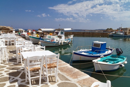 View of the port of Naoussa on the island of Paros, Greece Stock Photo - 18722247