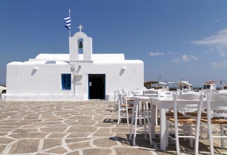 restaurant taverns in greek island of Paros Stock Photo - 18722229