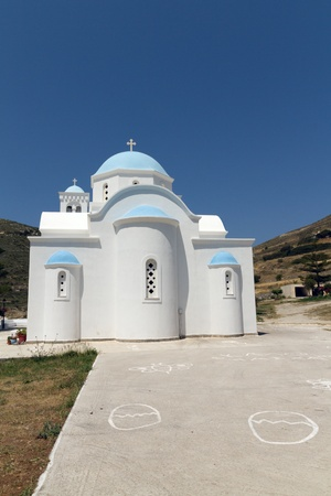 Typical church in Greece photo