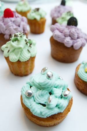 Some cupcakes on white background Stock Photo - 18721942