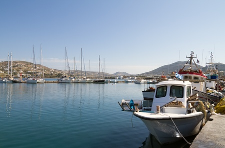 View of the port of Parikia on the island of Paros, Greece Stock Photo - 18722165