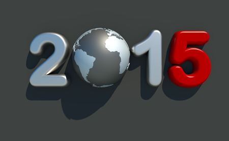 worldwide wish: new year 2015 logo