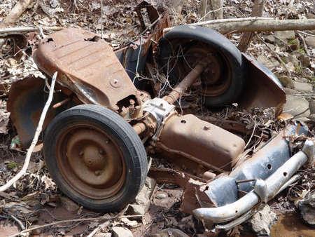 さびた車の部品 写真素材
