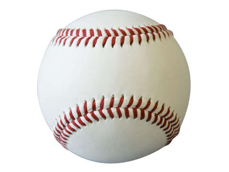 large baseball on white background cut out photo