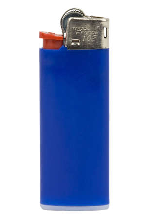 blue lighter on white background