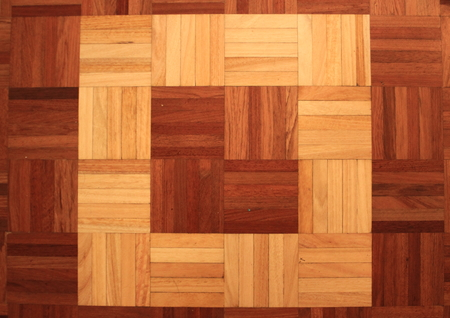 teakwood: Teakwood floor of quadratic sticks forming a quadrant