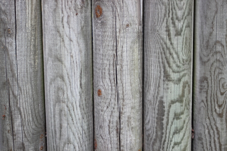 impregnated: Wooden fence of impregnated poles Stock Photo