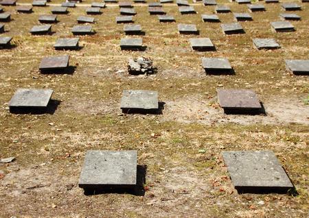 headstones: Birdseye of Headstones at Ancient Graveyard Christiansfeld