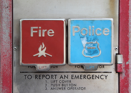 industrial accident: American Emergency Call Button Post for Fire and Police Department