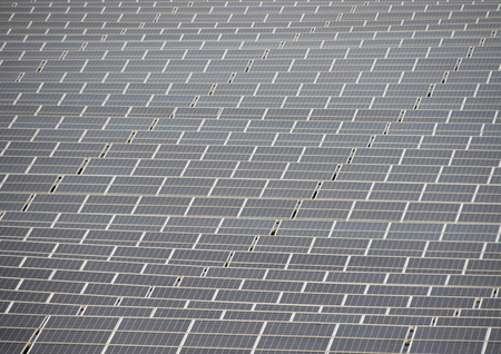 solarcell: Sun Solar Cell Outdoor Industrial Field Plant Background Stock Photo