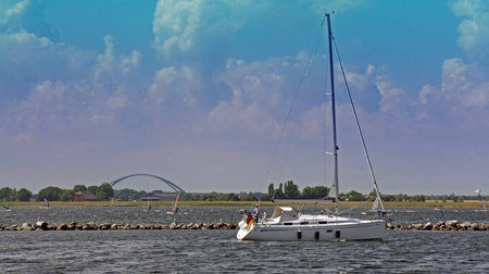 sund: impressions from fehmarn on a hot summer day Stock Photo