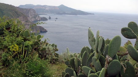 lipari: impressions from island lipari in southern italy in autumn