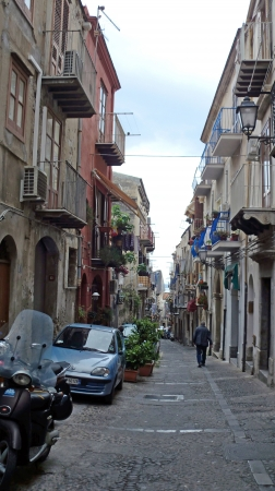 impressions from cefalu on sicily island in italy