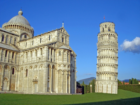 famous italien city pisa in summer photo