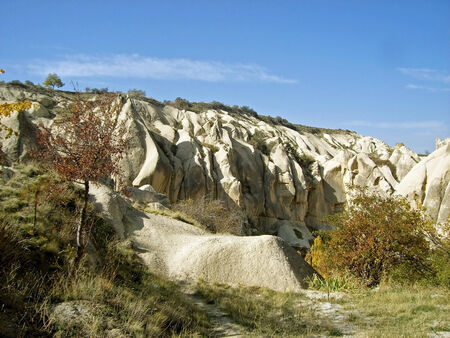 wonderful stone formation in cappadocia photo