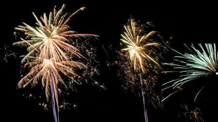 new years night at hamburg harbor Stock Photo - 24816906