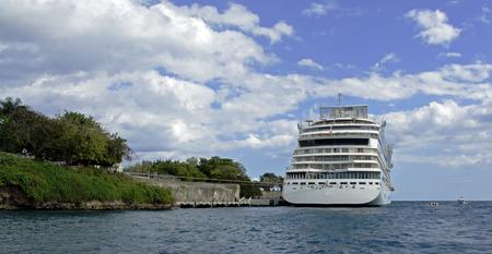 romana: cruise ship in la romana Stock Photo